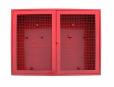 Щит пожарный навесной закрытый металл. 1250х940х300мм двери-сетка красн. (б/компл.)