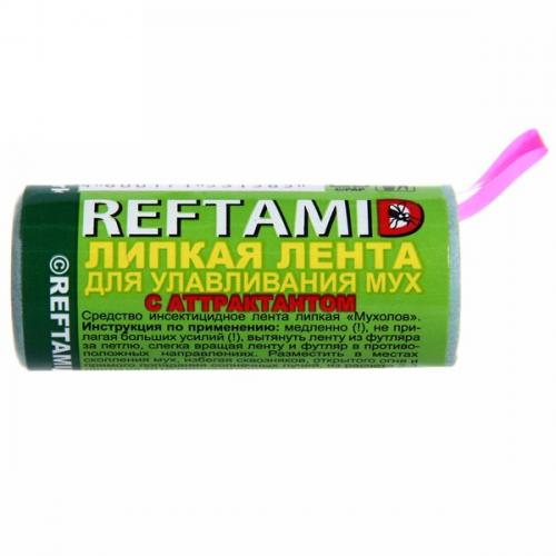 Лента от мух липкая ловушка Рефтамид 45г с аттрактантом без инсектицидов