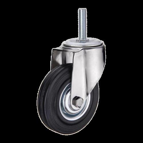 Колесо тележки опора поворотное ПП SCt-125 (скольж) ф125х27 h153мм шпилька М12 100кг