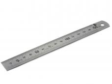 Линейка металлическая 300мм 2-хсторонняя шкала b-25,4мм (МИК)