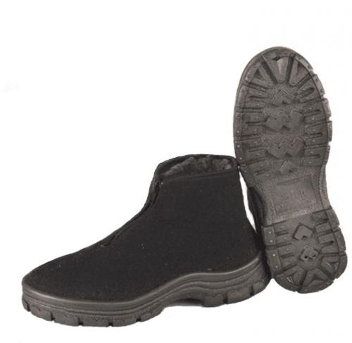 Ботинки суконные мужские(ут.иск.мех) литьевая подошва-ПВХ т-серые