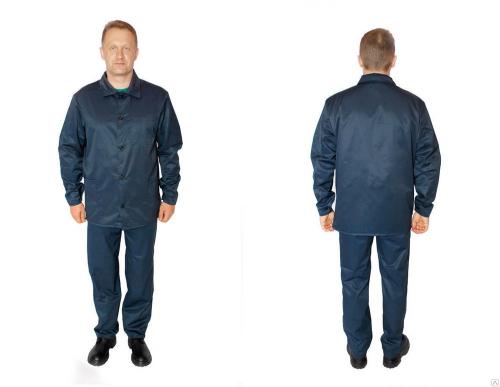 Костюм рабочий тк.Грета (куртка+п/комб.) т-синий