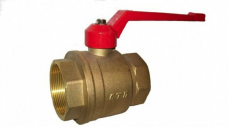 Кран шаровый латунь муфтовый 11б27п1 Ру16 рычаг (вода-пар Т 150°С)