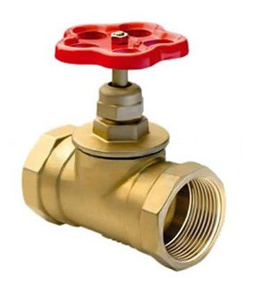 Вентиль (клапан) латунный 15б3р муфтовый (вода Т 70°С)