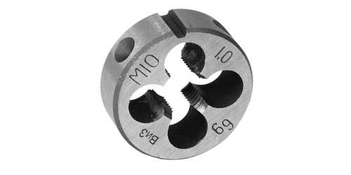 Плашка круглая для метрической резьбы,класс точности 6g,сталь 9ХС ,ГОСТ 9740-71