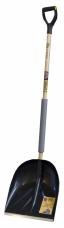 Лопата снеговая пластиковая 420х400мм планка мет.черенок V-ручка