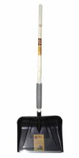 Лопата снеговая пластиковая 555х410мм планка дерев.черенок V-ручка