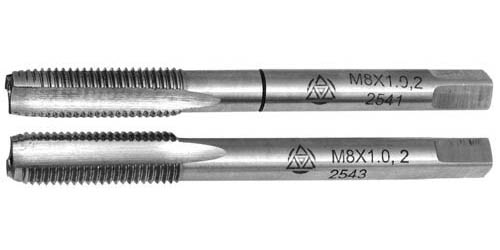 Метчик машинно-ручной для метрической резьбы комплектный из 2-х штук,сталь Р6М5 ГОСТ 3266-81