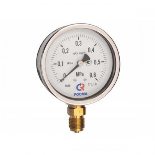 Манометр МП2-Уф 0-6 МПа кт.1,5 ф63мм IP40 М12х1,5 РШ кислород О2