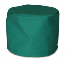 Колпак медицинский тк.Смесовая с завязками зеленый