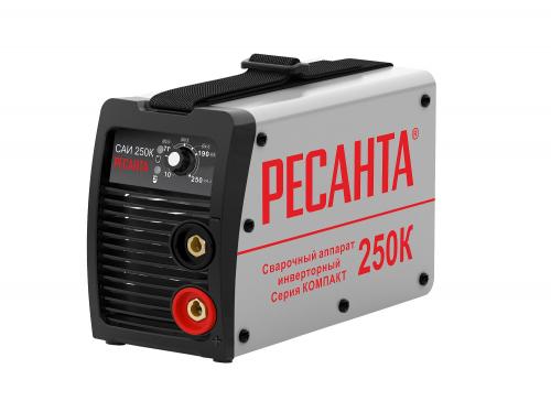 Инвертор сварочный Ресанта САИ-250К 65/38 140-240В 10-250А 70% 24,2А х/х.80В ф6 IP21