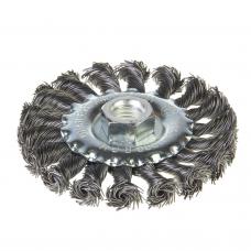 Щетка диск металлическая 100мм М14 витая 0,5мм