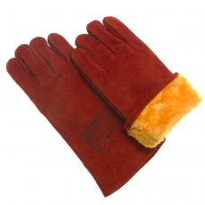 Краги спилковые кожевенные утепленные (искусственный мех) усиленные швы  L350мм /К0202/