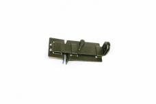 Задвижка-шпингалет накладная ЗД-04 Чебоксары серебро плоская с проушинами (1/30)