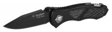 Нож складной 200/82мм Зубр Метеор Премиум 47718 мех.ускор.открытия мет.рукоятка