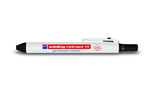 Маркер промышленный Edding retract 11 черный кнопка заправка 1,5-3мм 4-11-1-4001