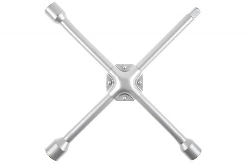 Ключ баллонный торцовый крест-образный 17х19х21х22мм ст.C45 Cr 350х350мм