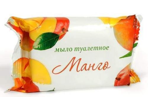 Мыло туалетное Манго 100г в/об. ординарное стандарт 1/72 ММЗ Москва