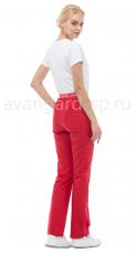 Брюки LF3105 Скарлет женские тк.Смесовая стрейч пояс-резинка красный