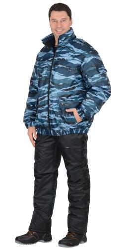Куртка Штурм-Люкс ут.(синтепон) тк.Оксфорд молн. КМФ серый вихрь