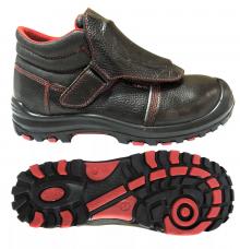 Ботинки сварщика Профи-Сириус МП кожаные литьевые Нитрил 2-клап.композит н/рем.
