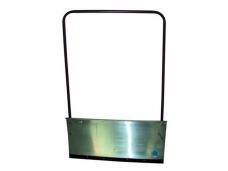 Движок ДБа для снега большой (750х600мм) алюминиевый стальная планка дугообразная металлическая ручка (1200мм)