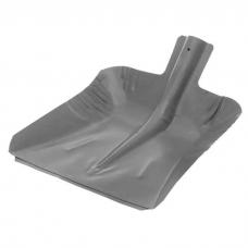 Лопата снеговая ЛС-9 эмаль порошковая стальная s-0,8/1,0мм (380х380мм) стальная планка внутренее крепление без черенка